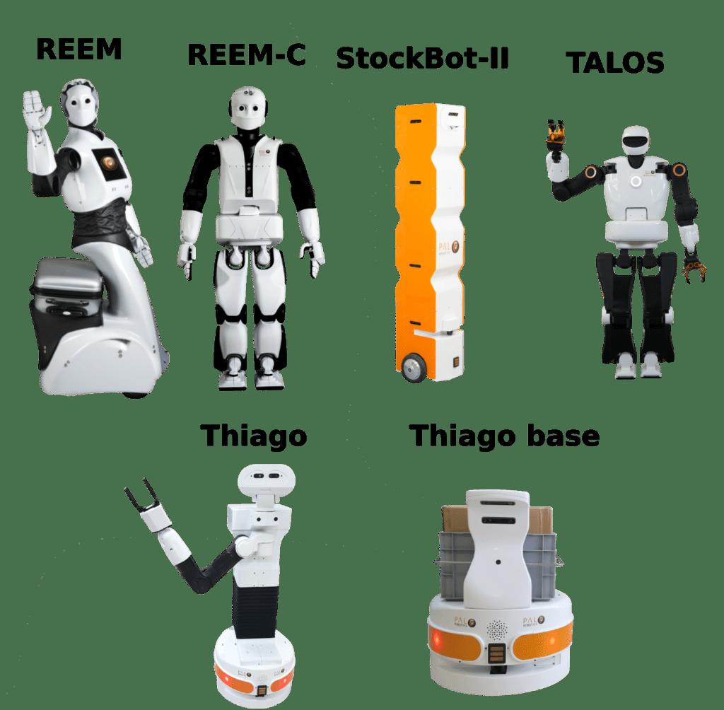 Todos los robotos humanoides de PAl robotics